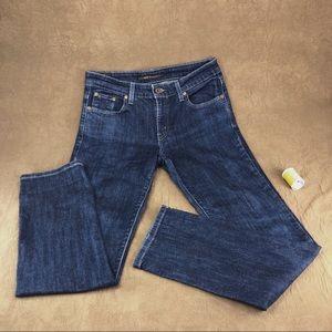 Levi's Mid Rise Skinny Jeans - Dark Wash